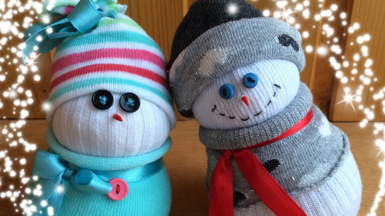How to Make a Sock Snowman This Winter