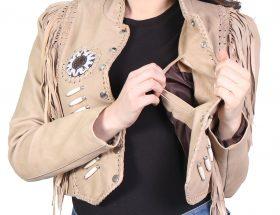 Leather Tassel Jacket